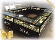 418L Fan Cooling Single Temperature Refrigerated Cake Display Cabinets All - Sides Glass Aluminium Frame