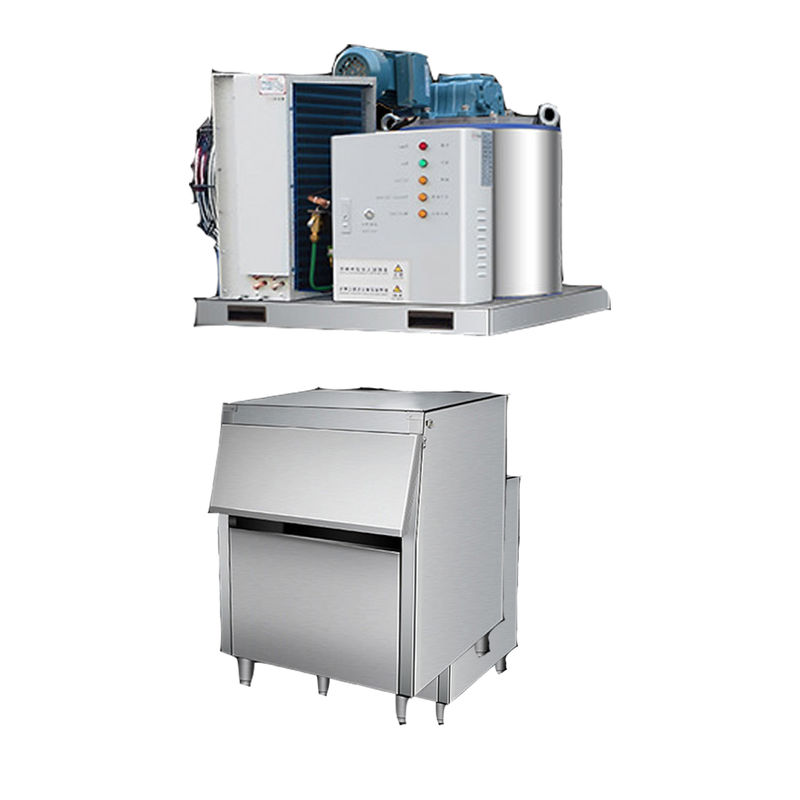 SS Fast Cooling Flake Ice Maker Machine For Industrial  3000kg/24h  Low Power